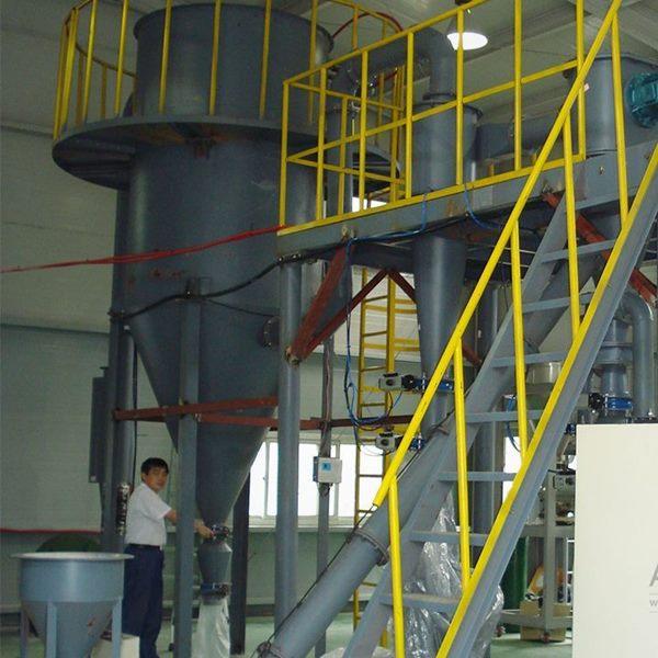 江苏某新材料工厂氧化锌粉分级生产线