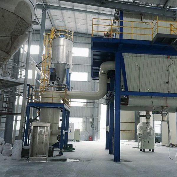 福建某化工公司沉淀法白炭黑超微气流粉碎生产线