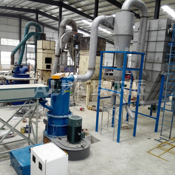 贵州某矿物工厂重晶石粉碎生产线  CSM1100-V重晶石超微粉碎机