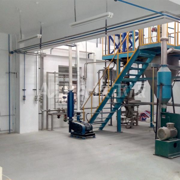 北京某公司磷酸铁锂超微粉碎生产线 MQW10流化床气流粉碎机