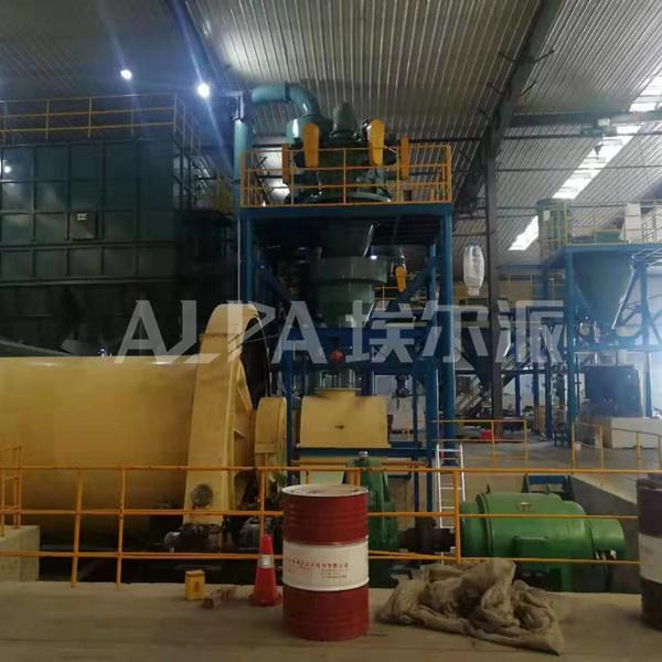 江苏某新材料公司石英FW630-6型气流分级机生产线